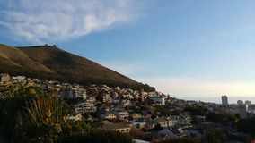 Cape Town da barra do céu fotos de stock royalty free