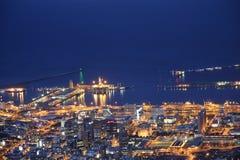 Cape Town di notte Immagine Stock