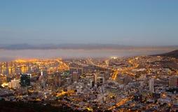 Cape Town dimmabank - Sydafrika Arkivbilder