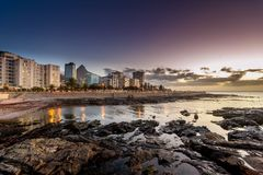 Cape Town at dusk - South Africa Stock Photography