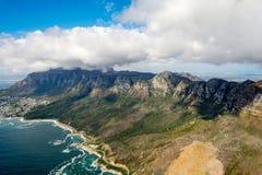 Cape Town e os 12 Apostels de cima de Fotos de Stock Royalty Free