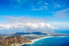 Cape Town et les 12 Apostels d'en haut Image libre de droits