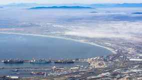 Overlooking Cape Town, South Africa stock image