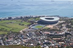 Cape Town fotbollsarena, Sydafrika arkivbilder