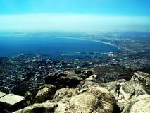 Cape Town från över Arkivbild