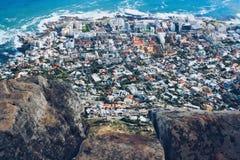 Cape Town från lejonhuvudet Royaltyfri Fotografi