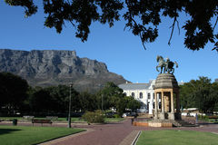 Cape Town Gardens. The Company Gardens in Cape Town with Table Mountain in the background Stock Photos