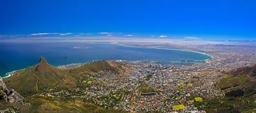 Cape Town ha osservato dalla montagna della Tabella Immagini Stock Libere da Diritti