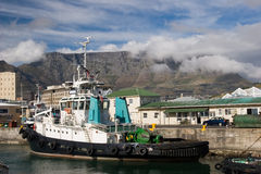 Cape town harbor Royalty Free Stock Photos