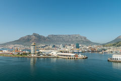 Cape Town Harbor aerial view Stock Photos