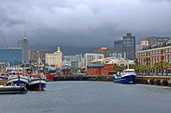 Cape Town harbor area - waterfront Royalty Free Stock Photos