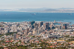 Cape Town harbor and central business district Royalty Free Stock Photo