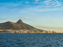 Cape Town harbour. From sea Royalty Free Stock Photography