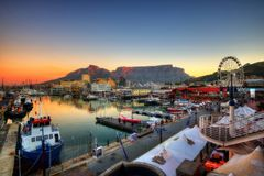 Cape Town Harbour, South Africa stock image