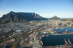 Cape Town Harbour and Table Mountain, South Africa Royalty Free Stock Image