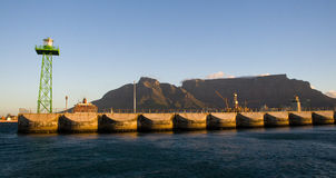 Cape Town Harbour and Table Mountain, South Africa Stock Photography