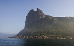 Cape Town ist eine Küstenansicht des Meeres, wie eine volle Nase Lizenzfreie Stockbilder