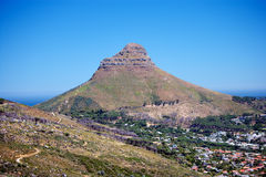Cape Town and Lion's Head Royalty Free Stock Image