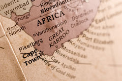 Cape town map detail Royalty Free Stock Image
