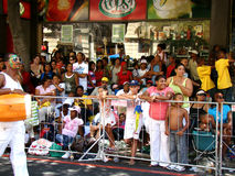 Cape Town Minstrel Carnival Spectators. Waiting for the next band to parade at the Cape Town Minstrel Carnival Stock Photo