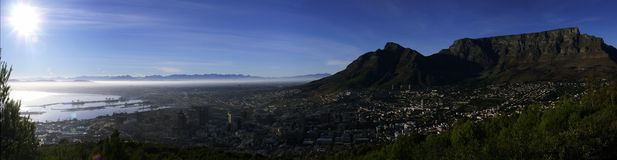 Cape Town morning. Morning in Capetown Royalty Free Stock Image