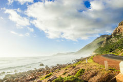 Ocean shore. Cape town nature landscape with ocean and beach shore Royalty Free Stock Photo