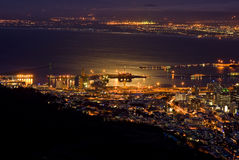 Cape Town at night Royalty Free Stock Photos