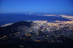 Cape Town by Night Stock Photography