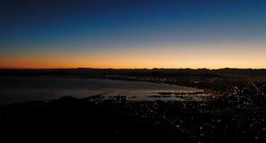 Cape Town no nascer do sol Foto de Stock Royalty Free