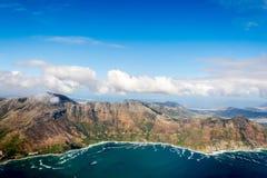 Cape Town och 12na Apostels från över Arkivfoto