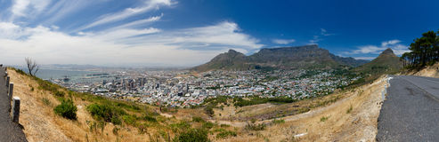 Cape Town Panorama. A panorama of Cape Town, South Africa from Signal Hill Royalty Free Stock Photography