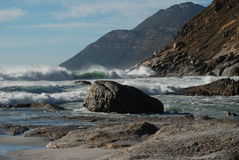 Cape Town Seascape. Surf thunders in at Noordhoek beach near Cape Town Royalty Free Stock Photos