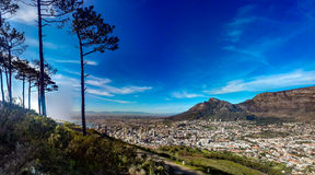 Cape Town from Signal Hill. A view towards table mountain from Signal Hill Cape Town royalty free stock photography