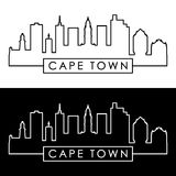 Cape Town skyline. Linear style. Stock Photo