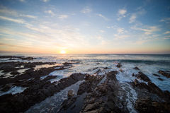 Cape Town solnedgång royaltyfria bilder