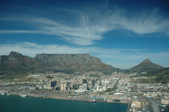 Cape Town (South Africa). View over Cape Town with Table Mountain Stock Photos