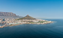 Cape Town, South Africa aerial view Royalty Free Stock Images