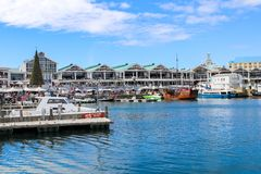 CAPE TOWN, SOUTH AFRICA - DECEMBER 23, 2017: Victoria and Alfred Waterfront, a popular royalty free stock photography