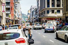 Street scene in Cape Town Royalty Free Stock Photography