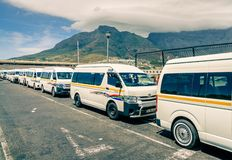Cape Town taxi terminal Royalty Free Stock Photos