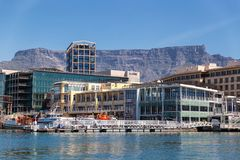 Cape Town waterfront view from the harbour royalty free stock images