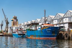 Fisherman wharf in center of Cape Town, South Africa stock images