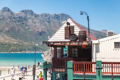 Grill restaurant in a beautiful area of Hout Bay in summer. CAPE TOWN, SOUTH AFRICA - NOVEMBER, 2018: Grill restaurant in a beautiful area of Hout Bay in summer stock images
