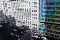 In the center of Cape Town. Cape Town is South Africa`s second largest metropolitan area after Johannesburg. The city is also known as the Mother city and is stock image