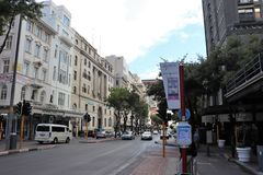 In the center of Cape Town. Cape Town is South Africa`s second largest metropolitan area after Johannesburg. The city is also known as the Mother city and is royalty free stock image