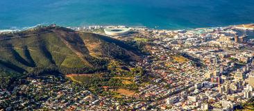 Cape Town and stadium view Royalty Free Stock Photo