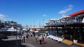 Cape Town strand och habour Royaltyfria Bilder