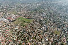 Cape Town suburb aerial view Royalty Free Stock Image