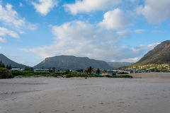 Cape Town Suburban Area behind Table Mountain Stock Images