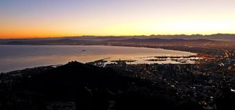 Cape Town at sunrise Stock Photos